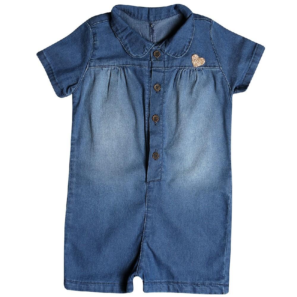 Macacão Jeans Clube do Doce Coração