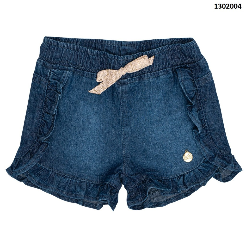 Short Jeans Clube do Doce Babados