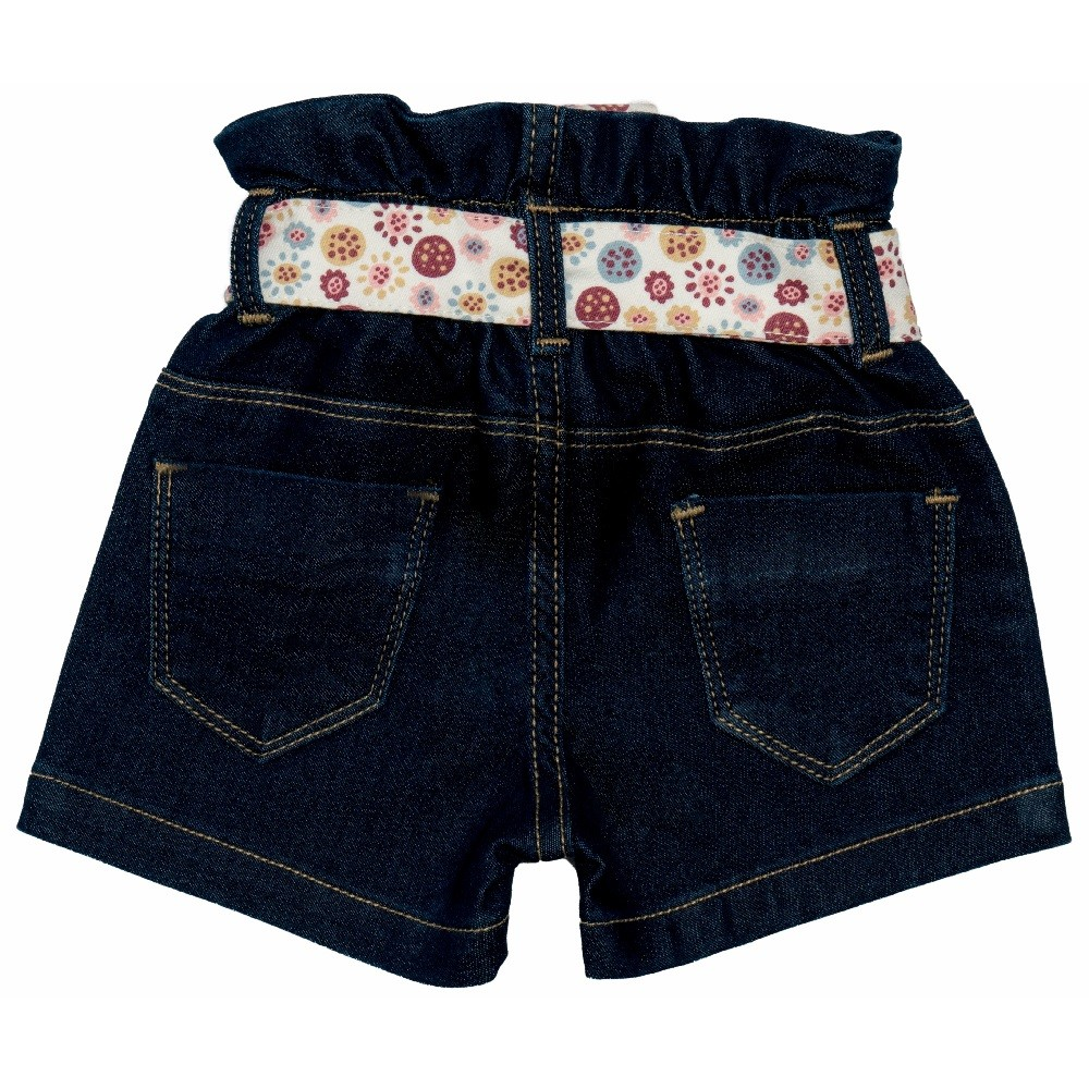 Short Jeans Clube do Doce Flower