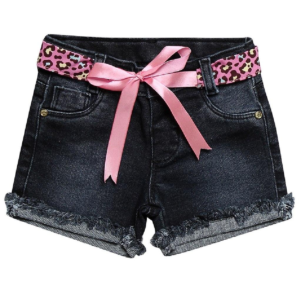 Short Jeans Clube do Doce Regular Laço