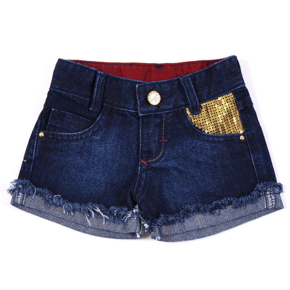 Shorts Jeans Clube do Doce Sirius Golden