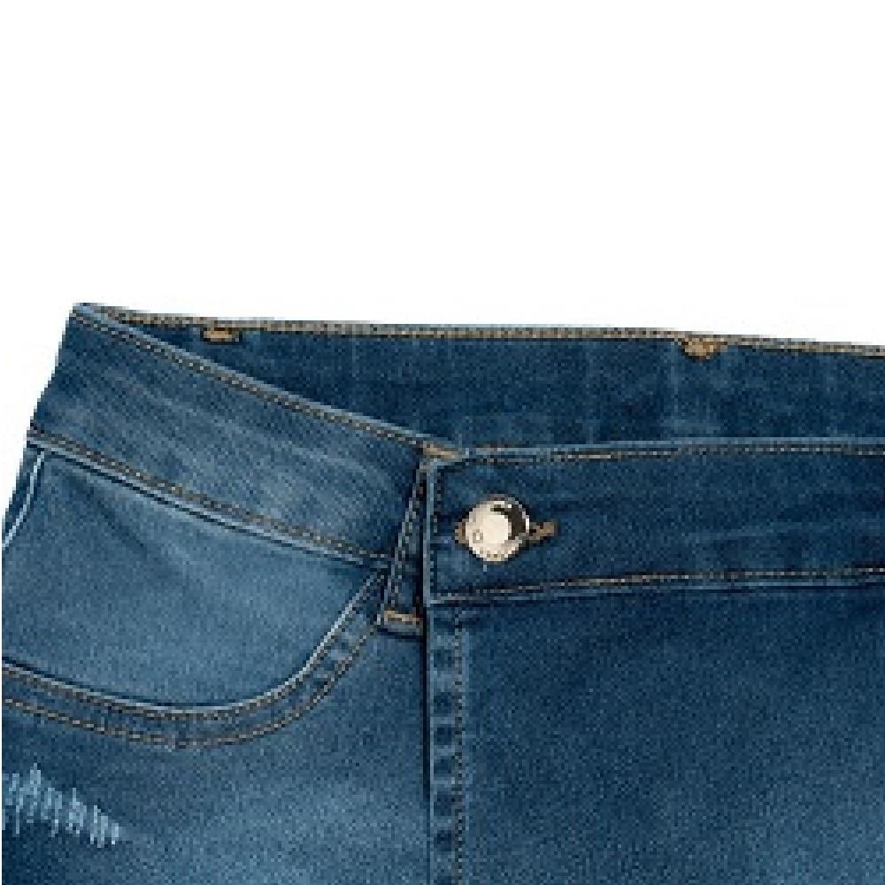 Shorts Saia Jeans Clube do Doce Cintura Baixa