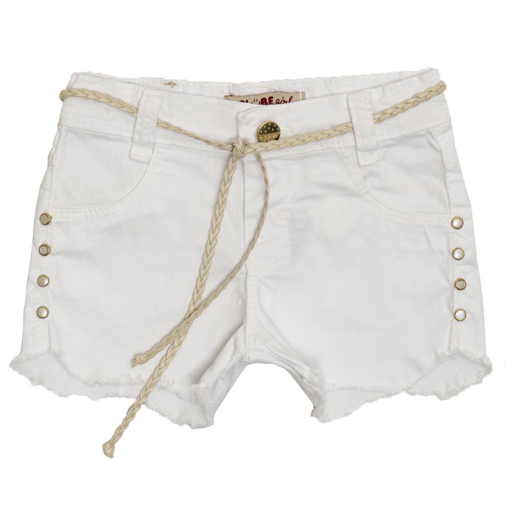 Shorts Sarja Clube do Doce Slim Ondas Bco