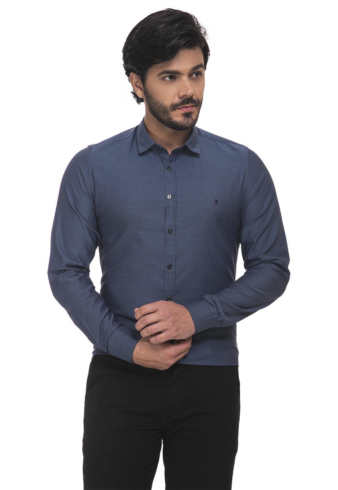 Camisa Fit Zaiko Mescla Manga Longa 1868