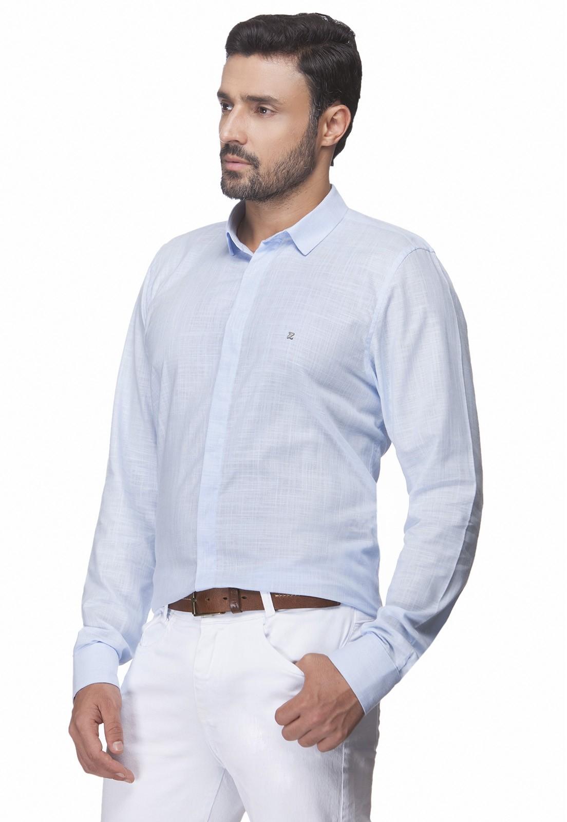 Camisa Slim Zaiko Rustic Manga Longa 2365