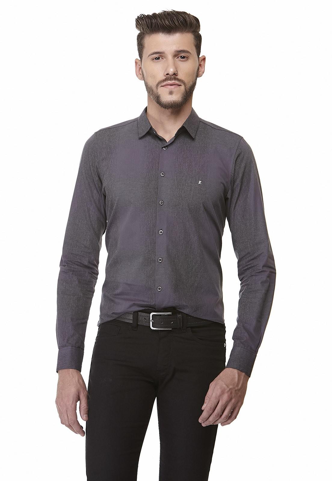 Camisa Slim Zaiko Xadrez Manga Longa 1905