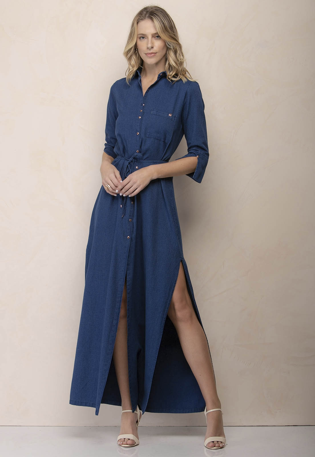 Vestido Jeans Shirtdress Zaiko 2525