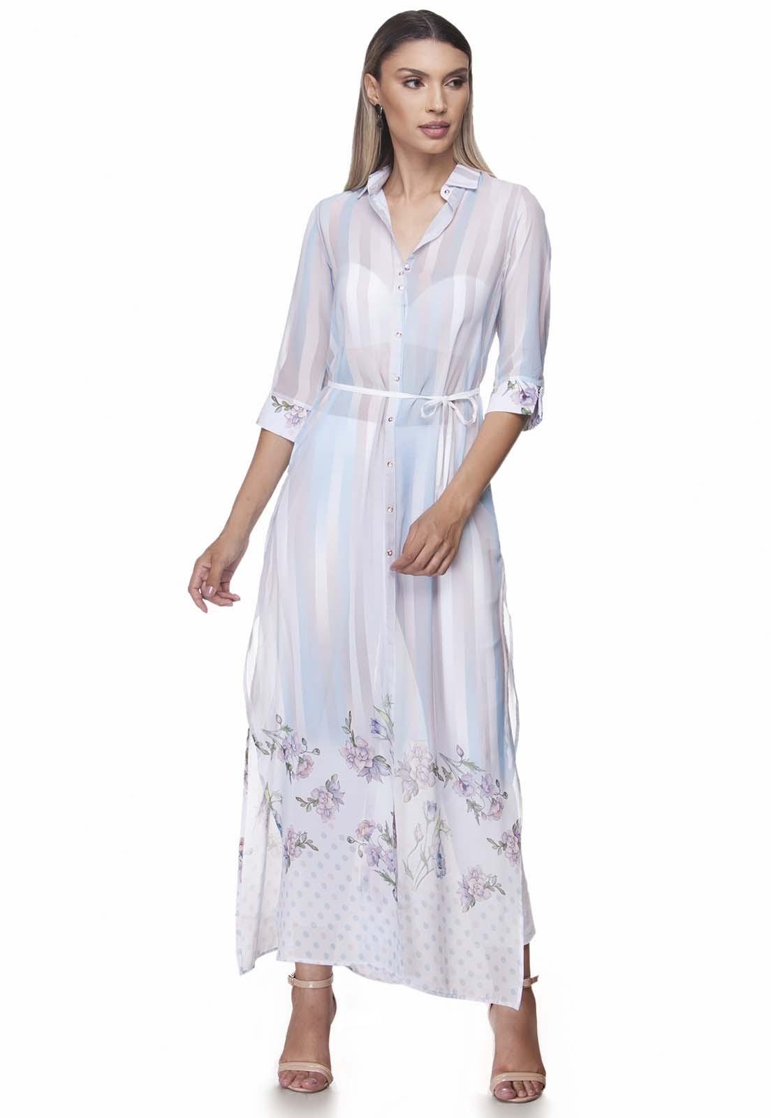 Vestido Zaiko Estampada 3/4 2057 Feminino