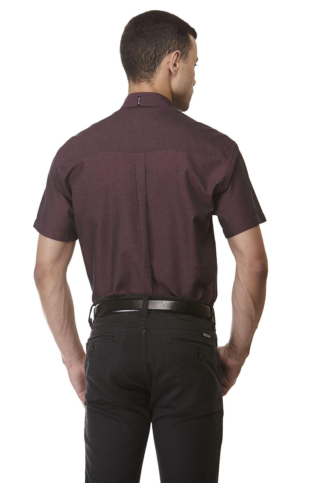 Camisa Clássica Maquinetada Manga Curta 1882