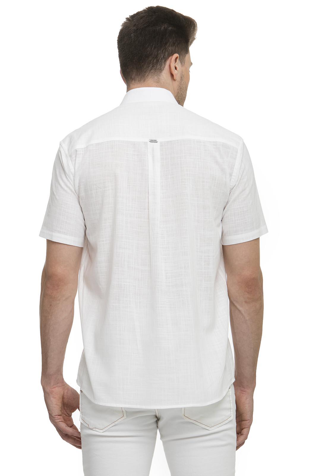Camisa Clássica Zaiko Slub Manga Curta 2658