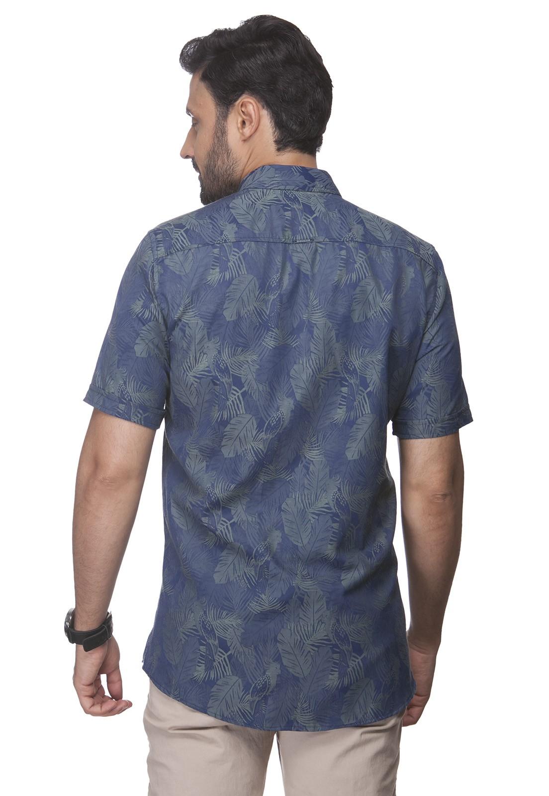 Camisa Fit Zaiko Jacquard Manga Curta 2339