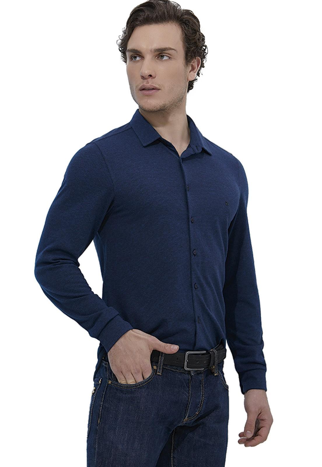 Camisa Fit Zaiko Malha Manga Longa 2127