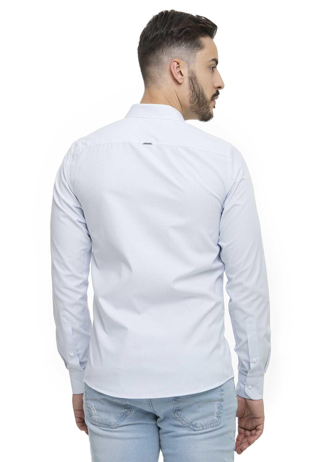 Camisa Fit Zaiko Micro Xadrez Manga Longa 2320
