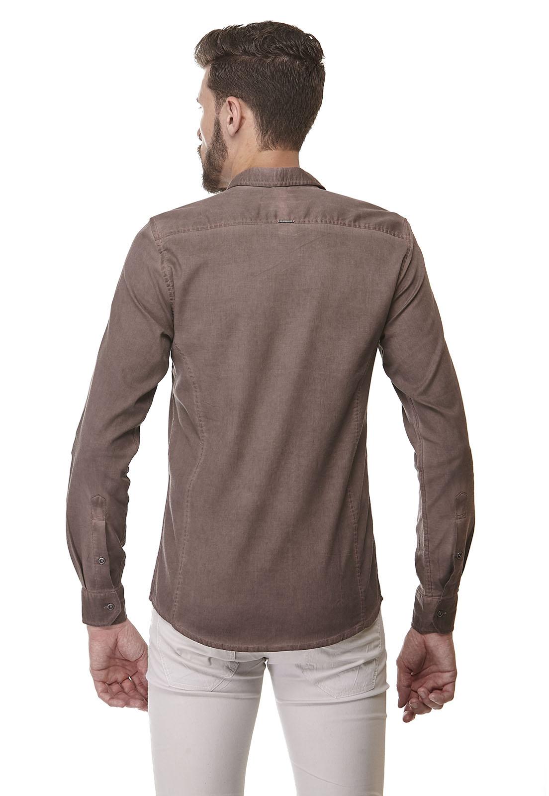 Camisa Fit Zaiko Tingimento Manga Longa 1916