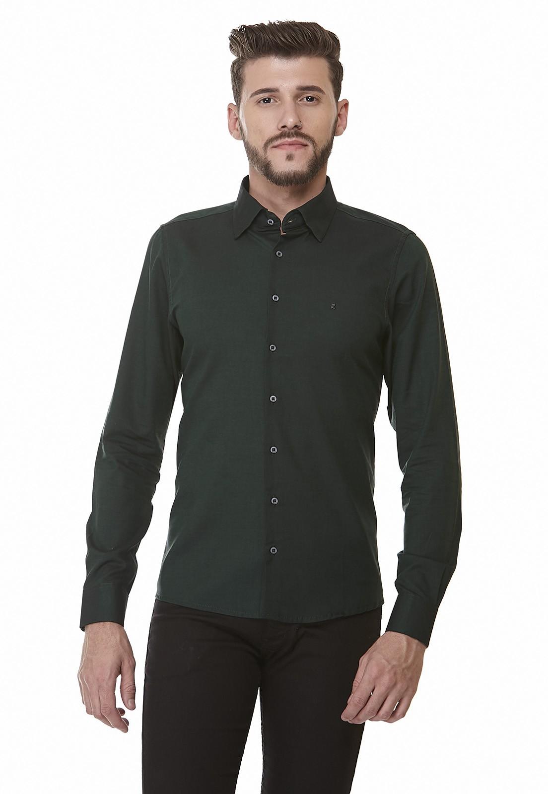 Camisa Slim Zaiko Double Manga Longa Fio 60 1743