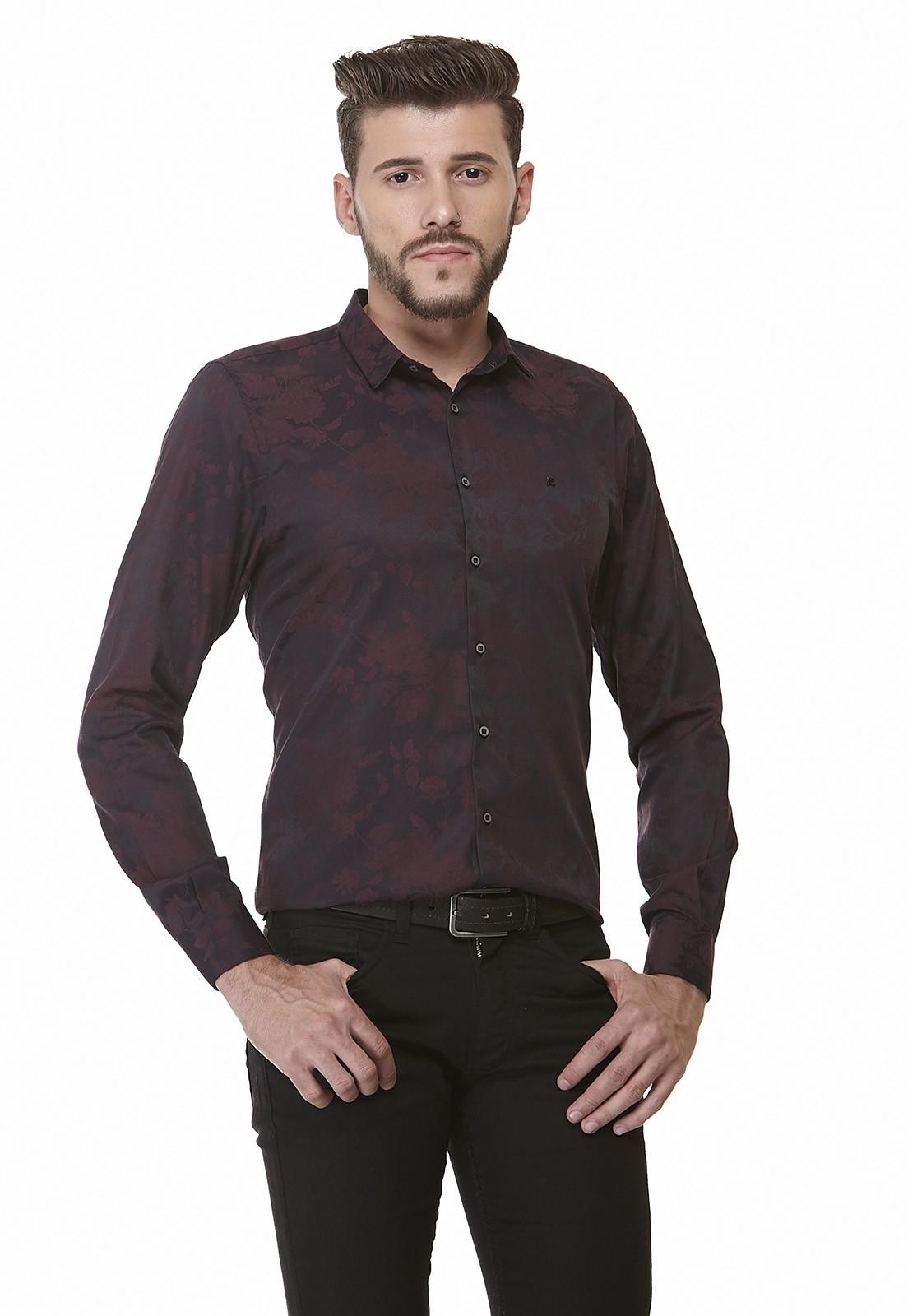 Camisa Slim Zaiko Jacquard Manga Longa 2014