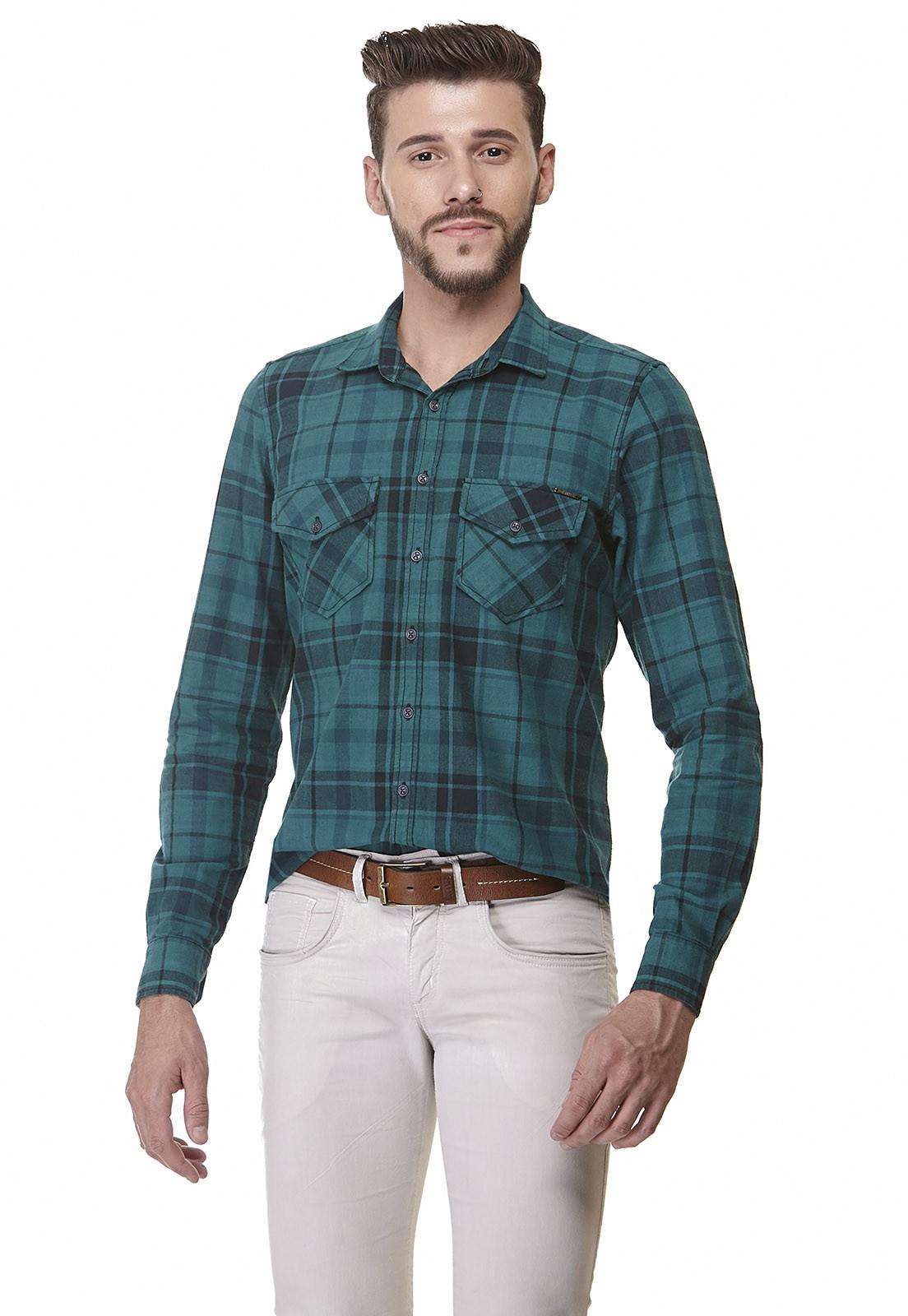 Camisa Slim Zaiko Xadrez Manga Longa 1917