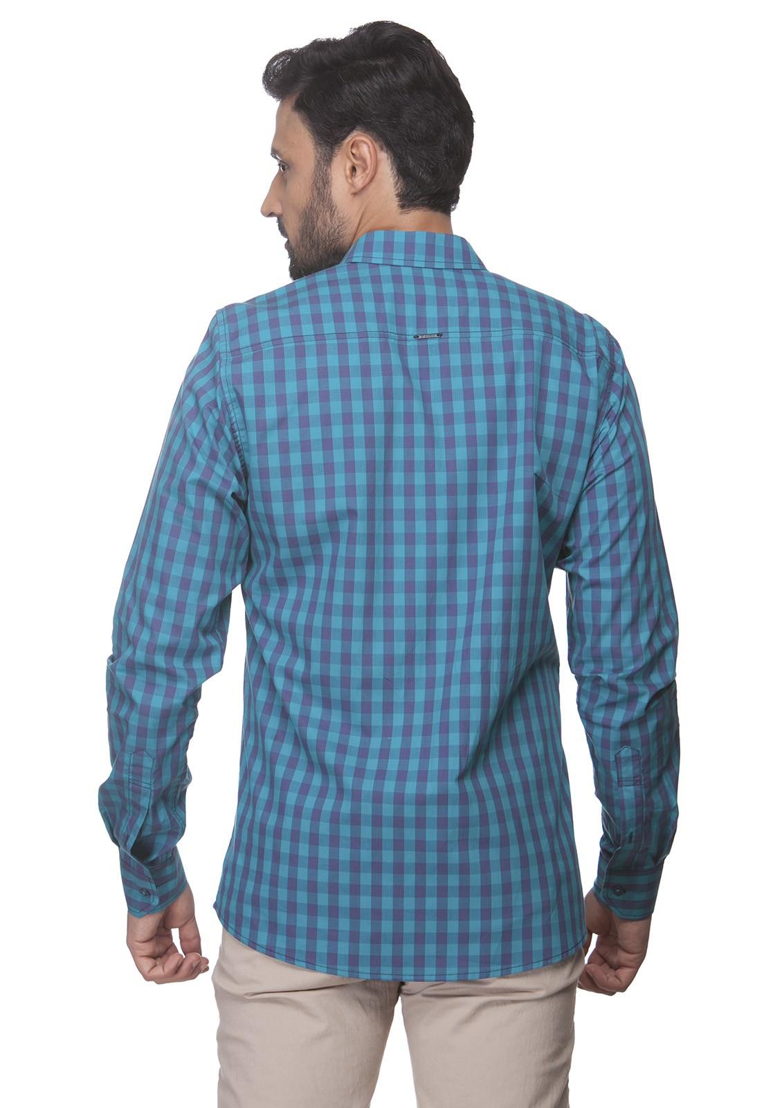 Camisa Slim Zaiko Xadrez Manga Longa 2350
