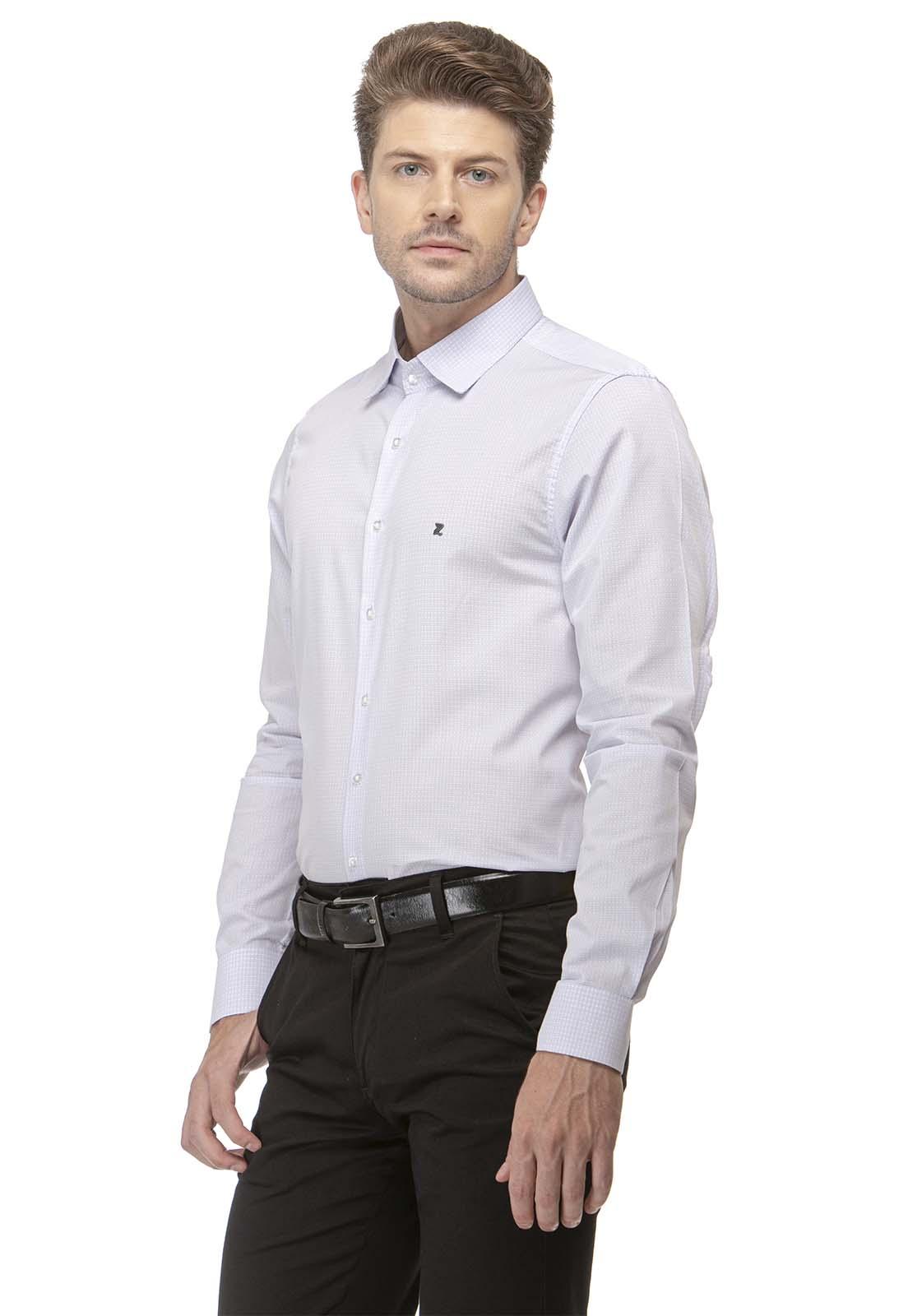Camisa Social Slim Zaiko Quadriculada Manga Longa 2576