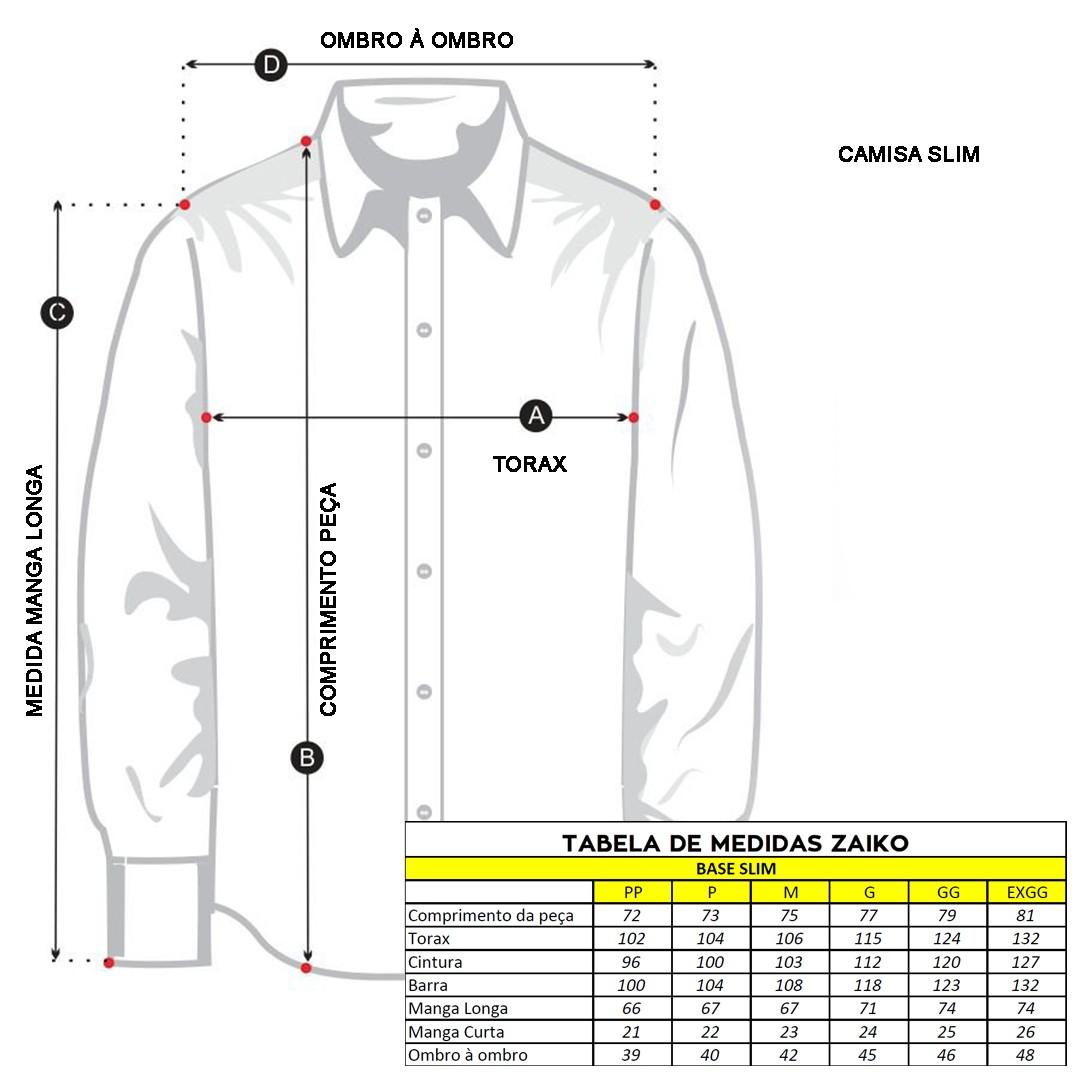 Camisa Zuggy Masculina Listrada Chumbo Manga Longa Única (0998unica)