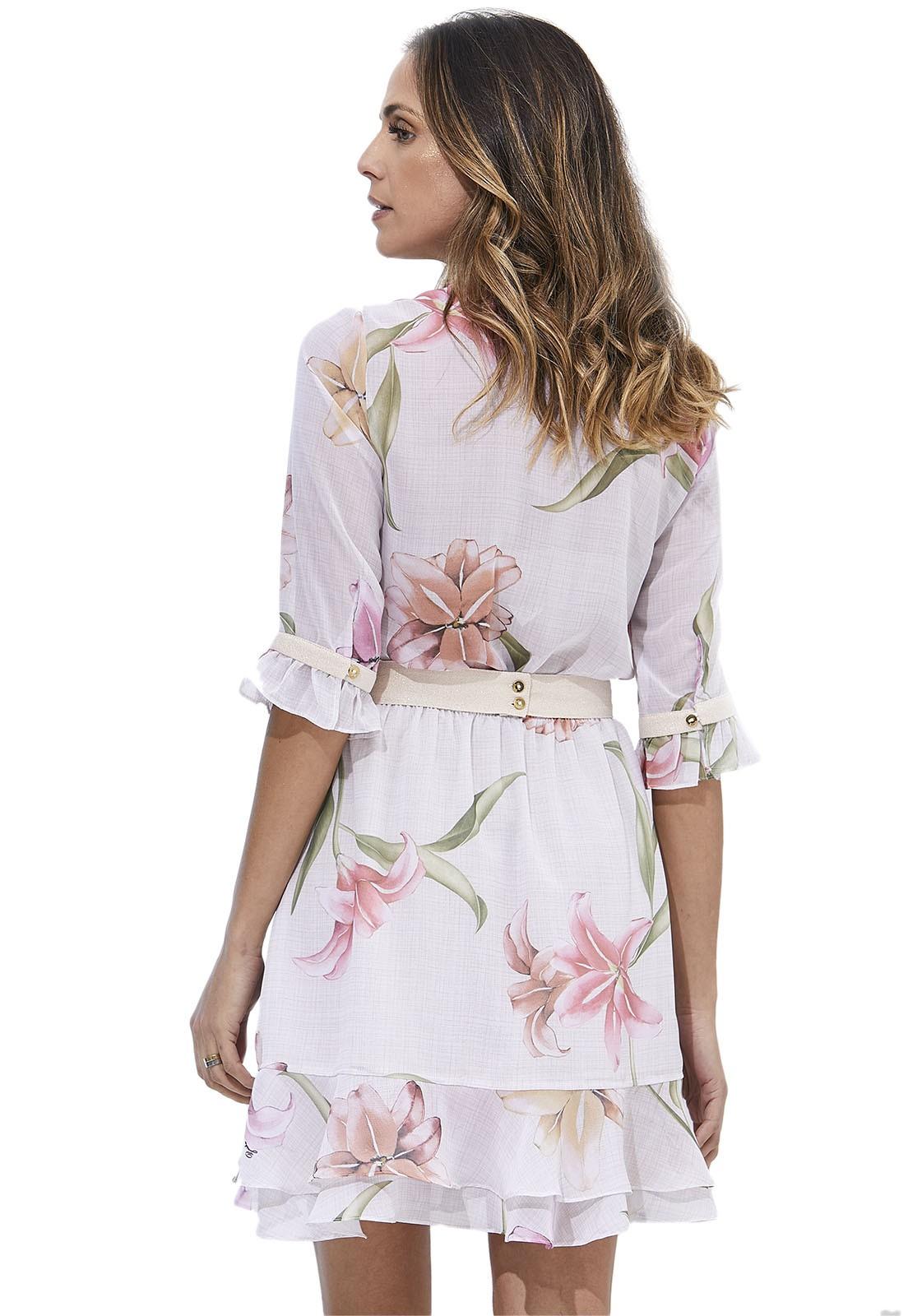 Chemise Vestido Zaiko Estampado Floral 3/4 2168