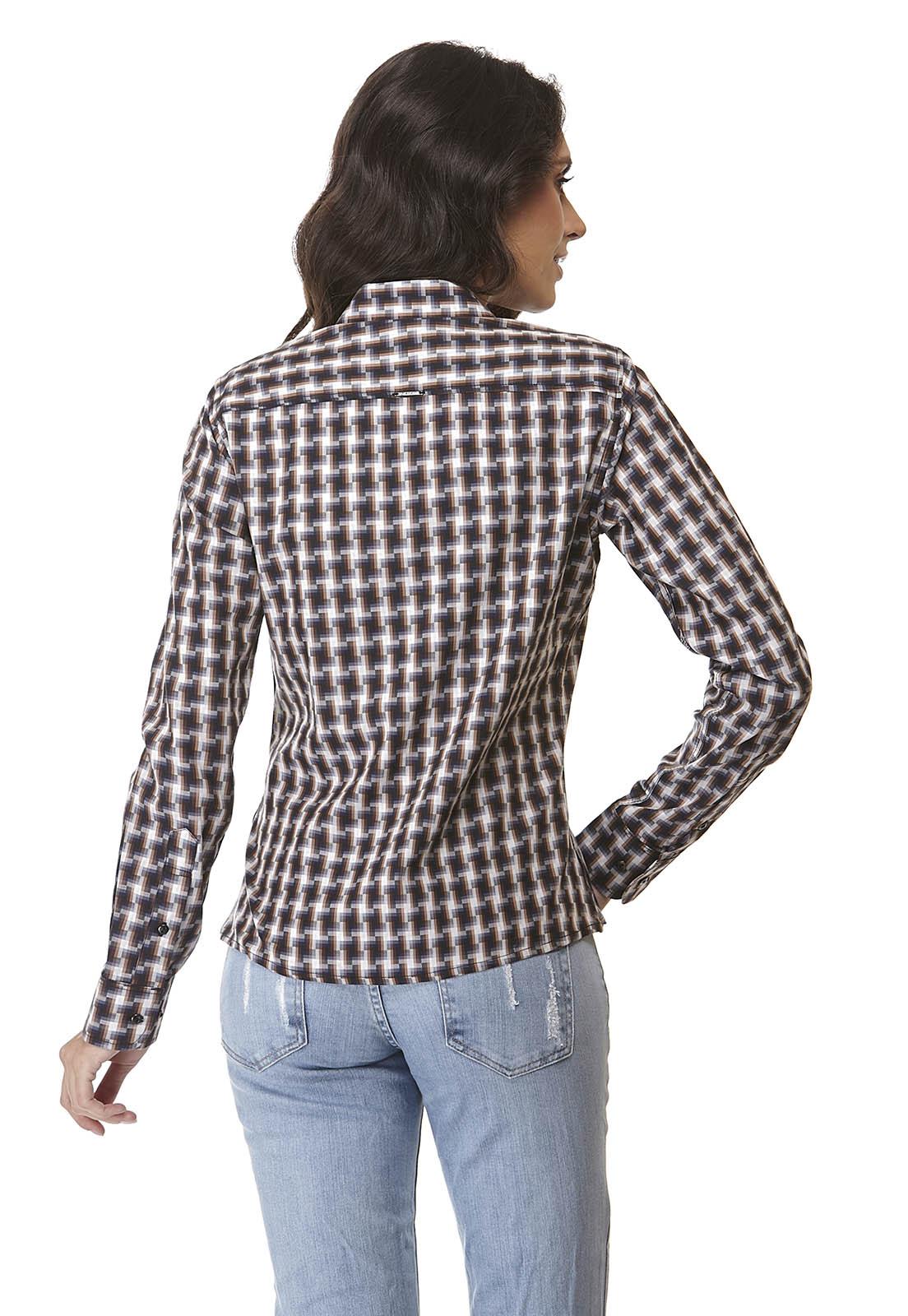 Kit 3 Camisas Xadrez Feminina Manga Longa Frete Grátis