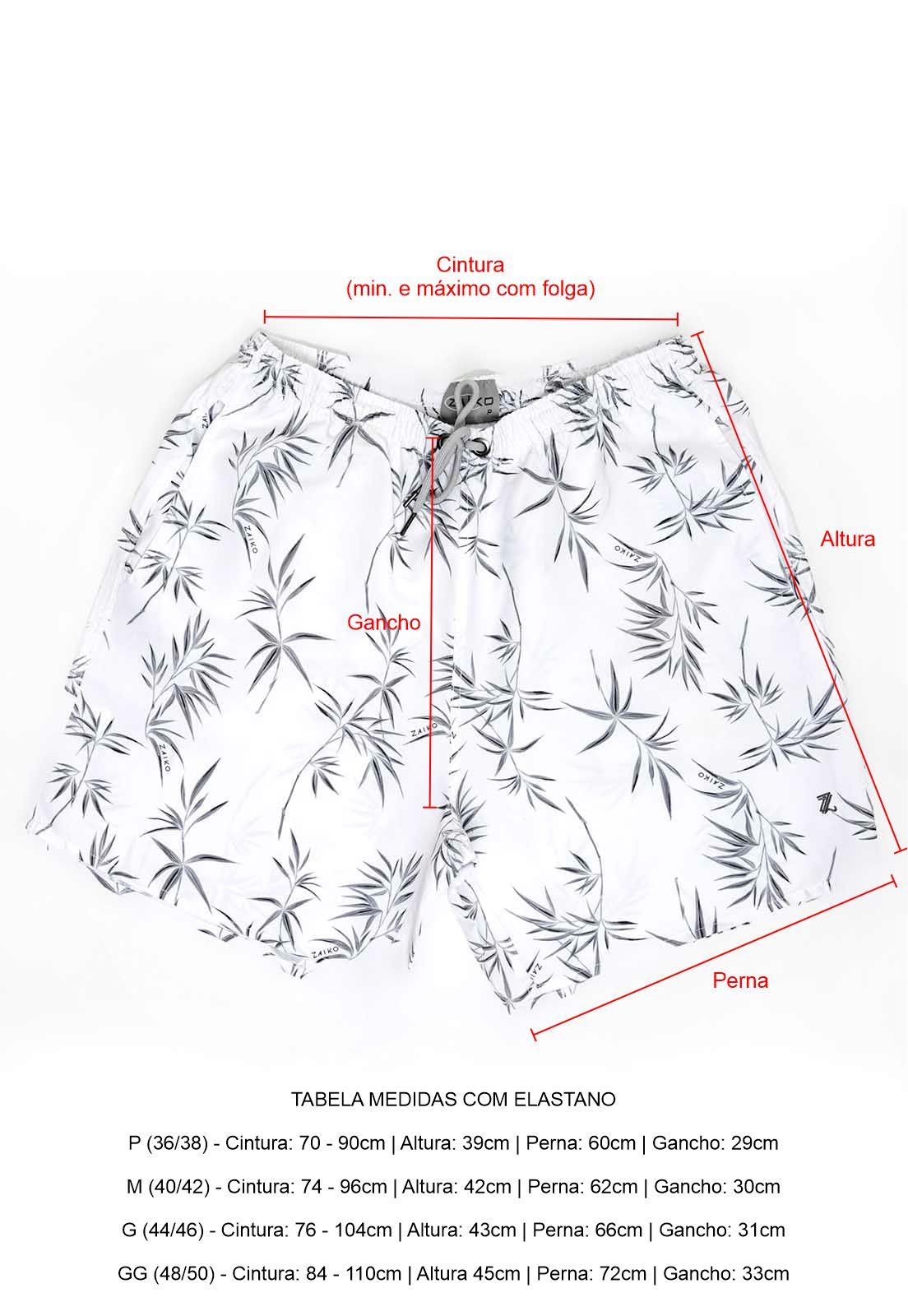 Short Bermuda Mauricinho Zaiko Estampado Floral Praia 2662