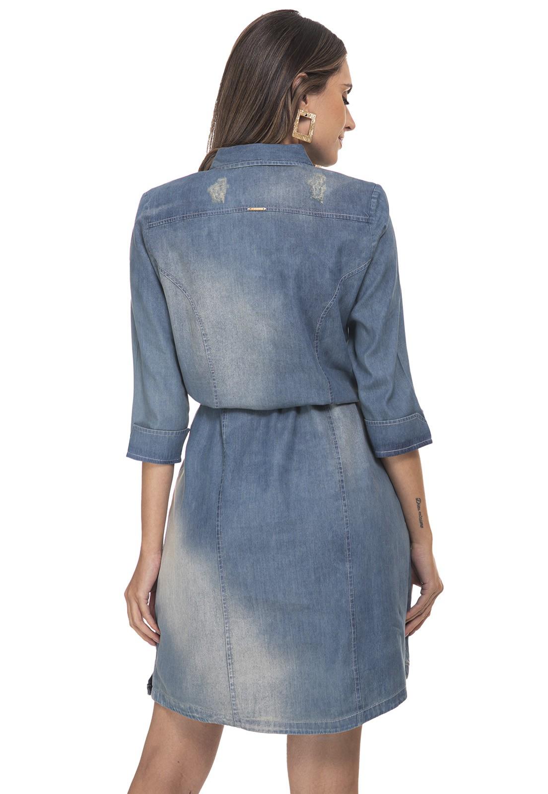 Vestido Jeans Chemise Zaiko Destroyed 3/4 1844