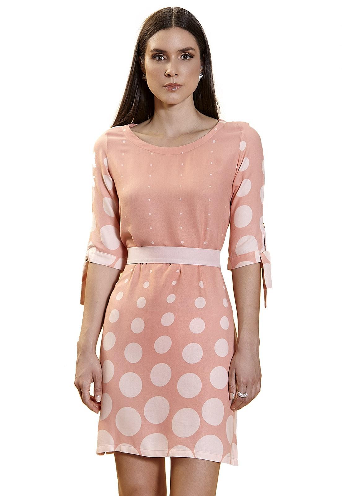 Vestido Chemise Zaiko Poá 2278