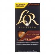 CAFÉ ESPRESSO EM CÁPSULAS DE ALUMÍNIO L'OR COLOMBIA 08 C/10