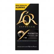 CAFÉ ESPRESSO EM CÁPSULAS DE ALUMÍNIO L'OR RISTRETTO 11 C/10