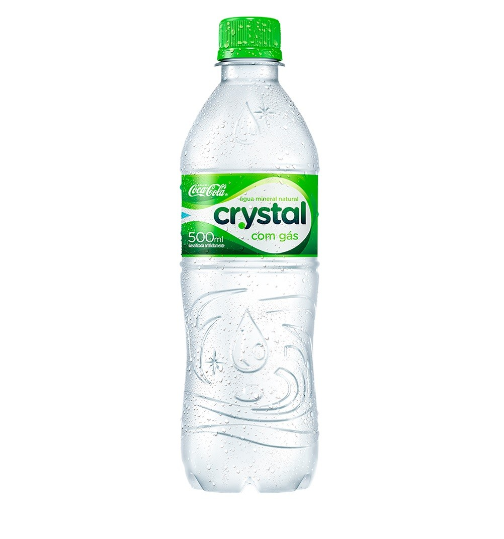ÁGUA CRYSTAL 500ML GAS C/12