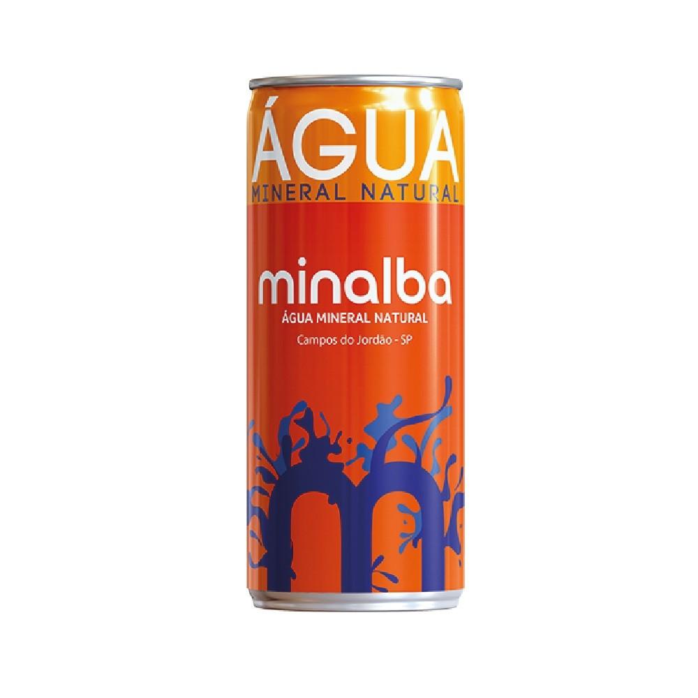 ÁGUA MINALBA COM GÁS  LATA 310ML C/12