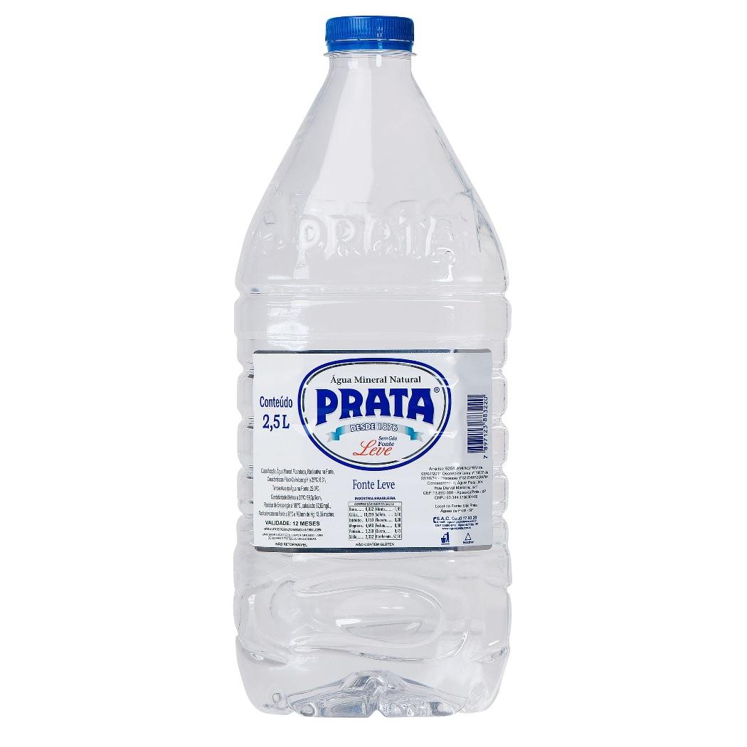 ÁGUA PRATA PET 2,5L C/04