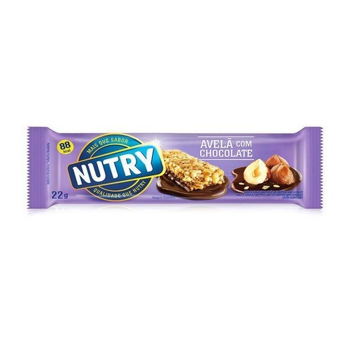 BARRA DE CEREAL NUTRY AVELÃ C/ CHOCOLATE 22G C/24