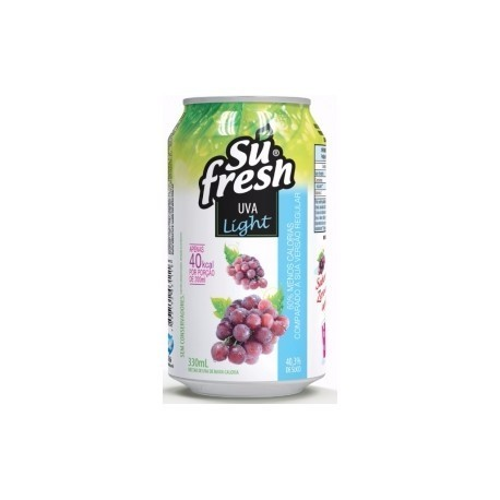 BEBIDA SUFRESH 330ML UVA LIGHT C/12