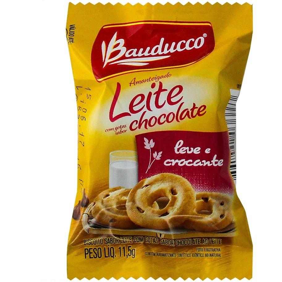 BISCOITO BAUDUCCO LEITE COM GOTAS DE CHOCOLATE SACHÊ 11,8G C/400