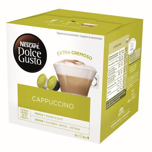 CAFÉ EM CÁPSULA DOLCE GUSTO CAPPUCCINO 188G C/16
