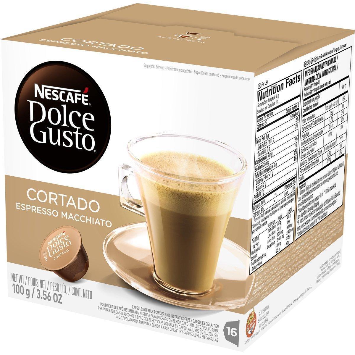 CAFÉ EM CÁPSULA DOLCE GUSTO CORTADO ESPRESSO MACCHIATO 100G  C/16