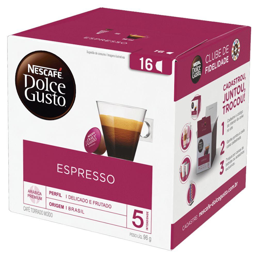 CAFÉ EM CÁPSULA DOLCE GUSTO ESPRESSO C/16