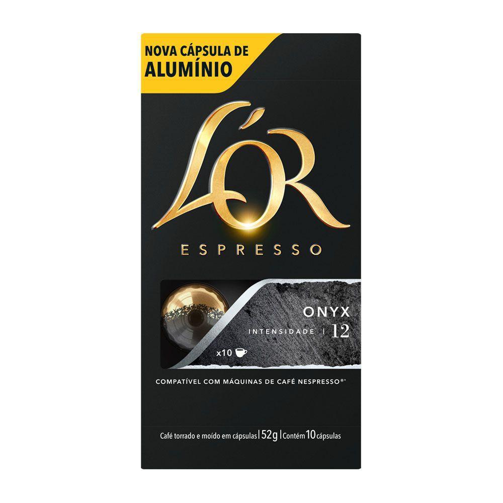 CAFÉ ESPRESSO EM CÁPSULAS DE ALUMÍNIO L'OR ONYX 12 C/10