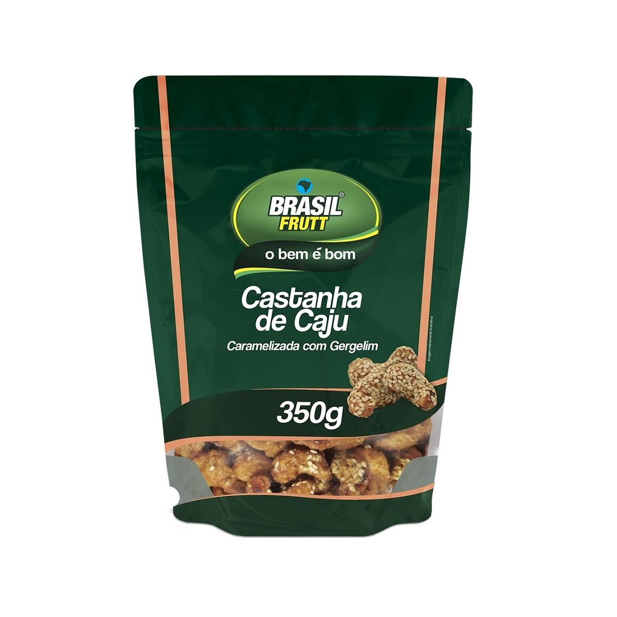 CASTANHA DE CAJU CARAMELIZADA COM GERGELIM BRASIL FRUTT 350G