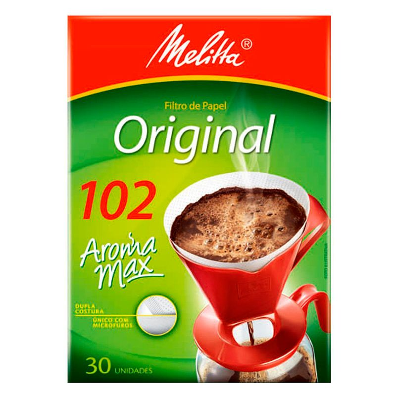 FILTRO DE PAPEL P/ CAFÉ MELITTA N°102 C/30