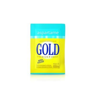 SACHE ADOÇANTE ASPARTAME GOLD 0,8G C/50