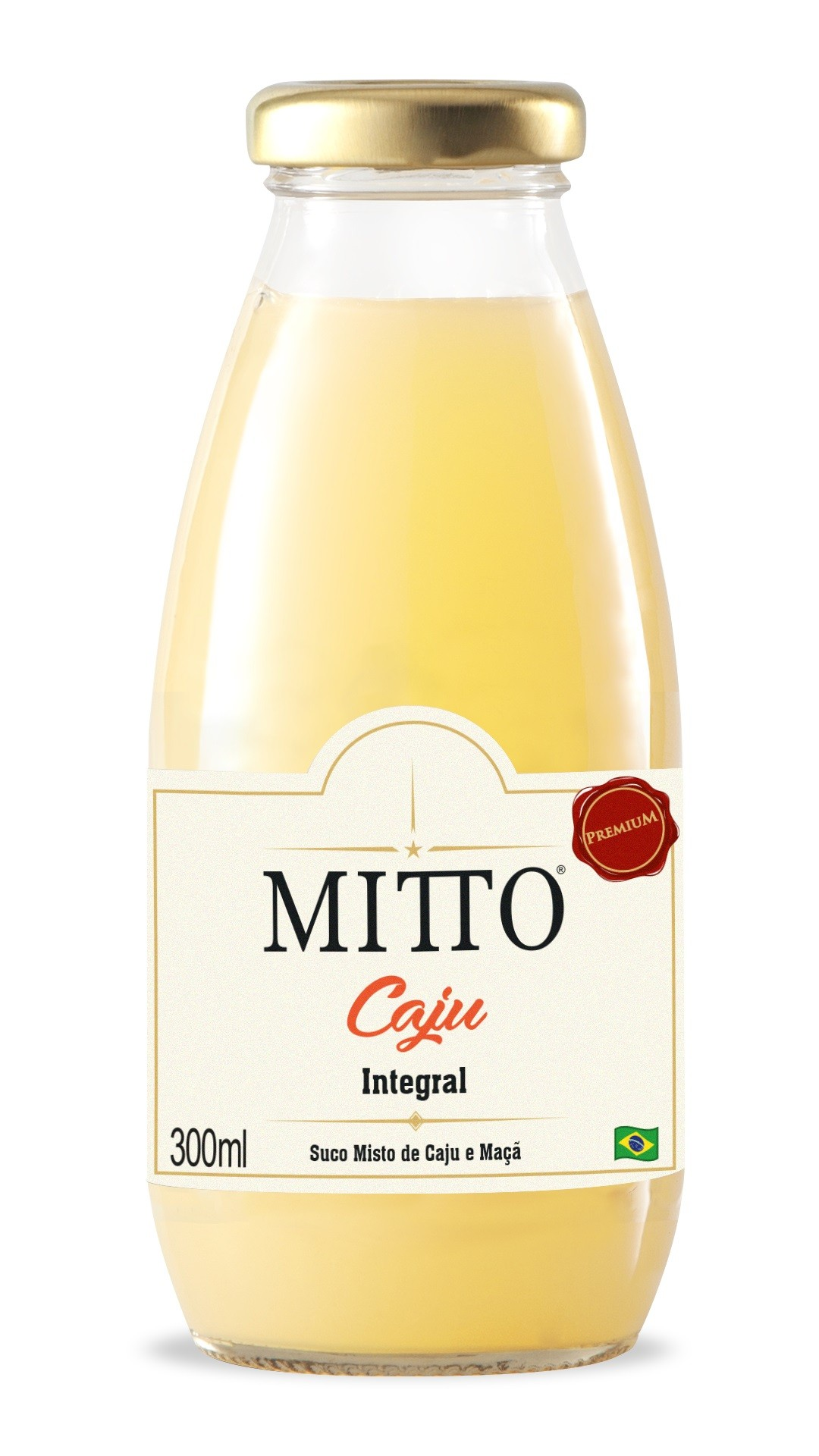 SUCO MITTO CAJÚ INTEGRAL VIDRO 300ML C/12