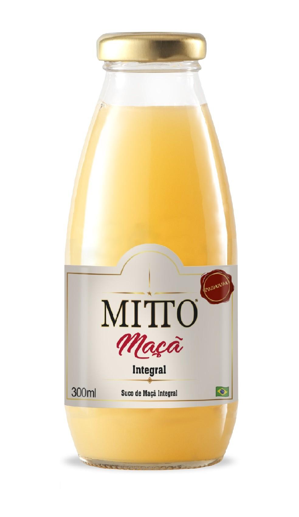 SUCO MITTO MAÇÃ INTEGRAL VIDRO 300ML C/12