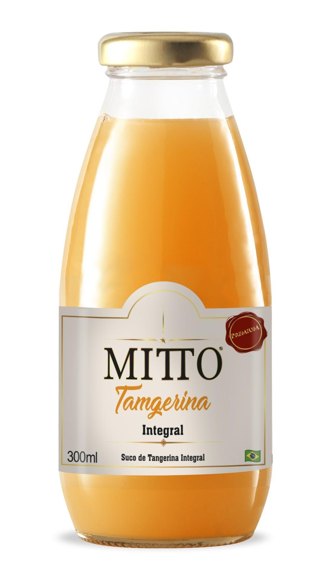 SUCO MITTO TANGERINA INTEGRAL VIDRO 300ML C/12