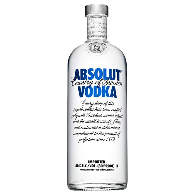VODKA ABSOLUT 1L   (SUÉCIA)