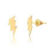 Brinco de Ouro Feminino Raio em Ouro 18k