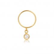 Piercing de Ouro Feminino Argola Zircônia Hélix em Ouro 18k